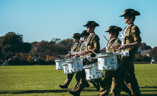 cadet band_ANZAC day