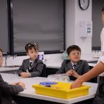 Stanmore and Wyvern students work together for a science experiment