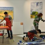 Students paint at Concordia Gallery