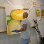 Dr Ian Penn paints at Concordia Gallery