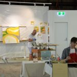 Dr Ian Penn and students paint at Concordia Gallery
