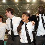 Students cheer at the AAGPS Swimming Championships