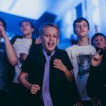 Audience members dance at Rockfest