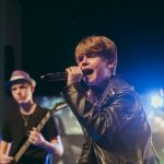 Two students perform at Rockfest