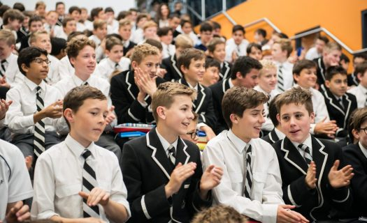 Stanmore students gather together in the Year 7 Tupou College Centre