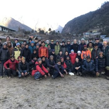 A group photo of the tour group to Nepal