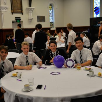 a photo of students gathered for the International Women's Day forum
