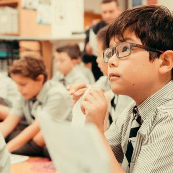 Wyvern boys in classroom